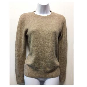 H&M | Tan Warm Fitted Sweater Fuzzy & Basic EUC